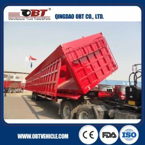 3 Axle 80 Ton Dump Truck Semi Trailer pictures & photos