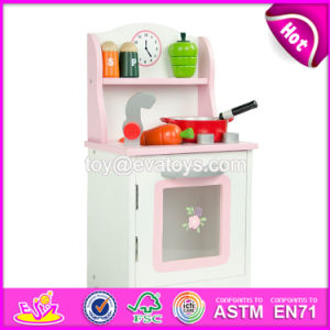 New Products Children Cooking Set Wooden Pink Play Kitchen W10c263 pictures & photos