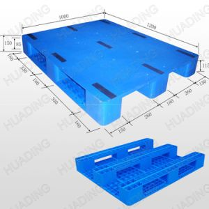 1200X1000X150mm Heavy Duty 3 Runners Close Deck Plastic Pallet pictures & photos
