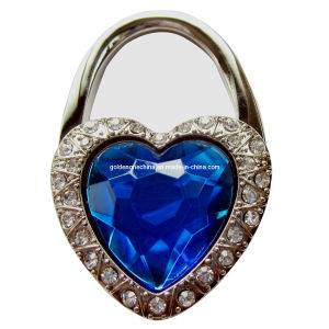 Promotion Gift Crystal Heart Stone Folding Purse Hook (GO49) pictures & photos