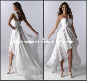 Short Beach Littel White Bridal Gown Layered Hi-Low Wedding Dresses H147232 pictures & photos