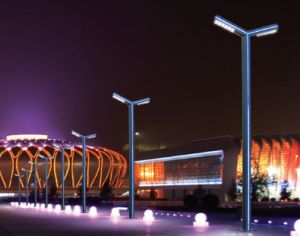 4m High, Aluminum Alloy LED Garden Lights with CE UL RoHS