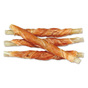 Pet Food: Dry Chicken Jerky with Rawhide Twisted Stick (CD-01H)