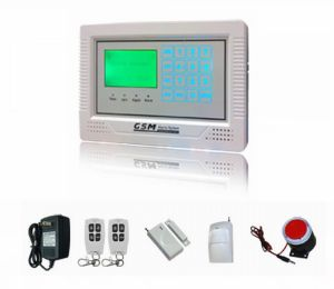 Home Security GSM Burglarproof Alarm System with LCD pictures & photos