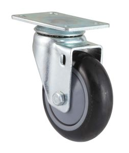 Fixed PU Caster (Black, Round Surface) (3303894) pictures & photos