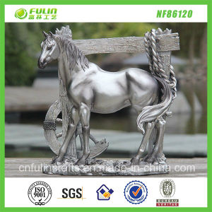 Cheap Resin Plating Horse Decor (NF86120)