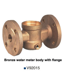 Sand Casting Bronze Flange Water Meter Body (V92015) pictures & photos