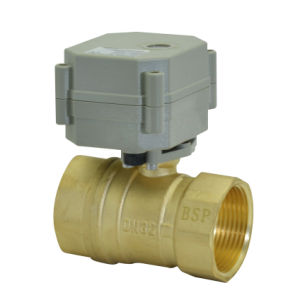 1 -1/4′′230V Electric Actuator Brass Ball Valve (T32-B2-C) pictures & photos