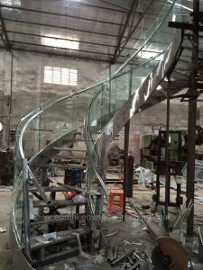 Modern Curved Glass Staircases / Helical Staircase Design / Curved Staircase / Stairs pictures & photos