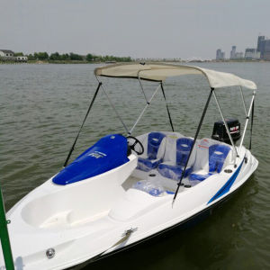 Hot Sale Standard Equipment Mini Sport Boat with 2 Stroke 90HP Outboard Engine pictures & photos