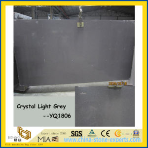 Hot Sale Crystal Light Grey Artificial Quartz Stone Slabs pictures & photos