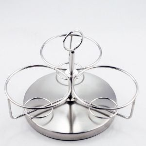 Rotatable Stainless Steel Spice Jar Cruet with Spoon (JX-029) pictures & photos