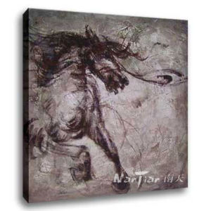 Abstract Oil Painting - Horse (H051)