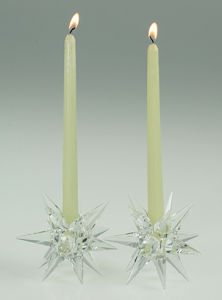 Crystal/Crystal Candleholder (ART-H053)