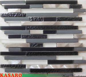 Fancy Wall Aluminum Mix Glass Mosaic Tile (KSL135162)