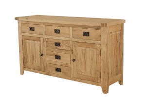 Solid Oak Wooden Sideboard, Wooden Cupboard (RUT-LS)