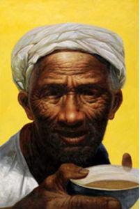Portrait Oil Painting on Cotton Canvas (PE10020A)