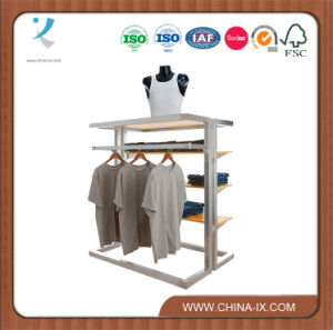 Clothing Display Gondola with Shelves & Hangrail pictures & photos