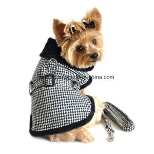 Fur-Trimmed Dog Harness Coat Pet Winter Clothess pictures & photos