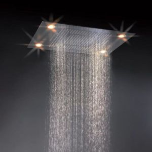 4 Function Electric Rainfall and Waterfall Concealed Ceiling Shower Recessed Ceiling Showerhead (HM-BD012-1)