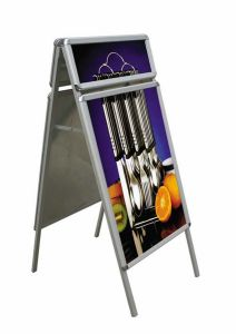 Portable Logo Head A Shape Poster Stands (LT-10A) pictures & photos