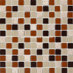 Stone Mix Crystal Glass Mosaic Tile (HGM239) pictures & photos