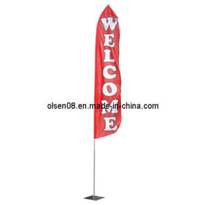 15FT Silver Aluminum Swooper Flagpole pictures & photos