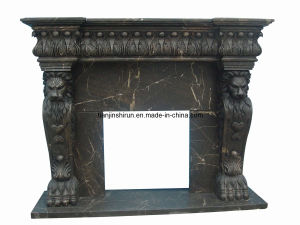 Marble Lion Fireplace (8292) pictures & photos