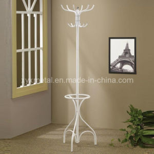 White Metal Coat Hat Rack Hall Tree Hanger pictures & photos