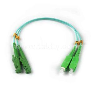 FTTH E2000-Sc Multi-Mode Dual Fiber Optic Cable with PVC/LSZH Coating pictures & photos