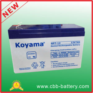 Rechargeable Long Life Valve Regulated 12V7ah UPS Battery pictures & photos