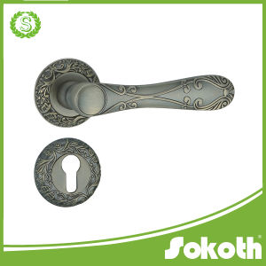 Israel Market Aluminum Alloy Door Lever with Rose pictures & photos