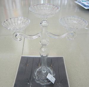Clear Glass Candle Holder with Three Posters** pictures & photos