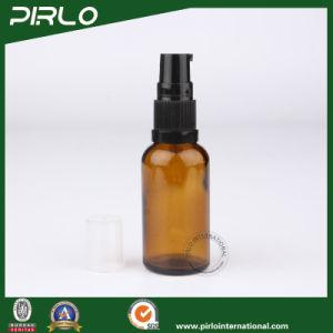 5ml 10ml 15ml 20ml 30ml 50ml 100ml Amber Luxury Glass Spray Bottles with Black Lotion Sprayer pictures & photos