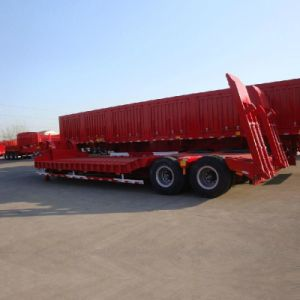 Professional Lowbed Trailer for Machinery Factory with 2 Axles pictures & photos