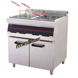 2-Tank 4-Basket Gas / Elecric Fryer with Cabinet (WFR3-7, WFR3-8)