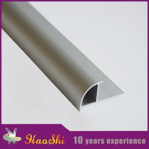 Round Closed Type Aluminum 6063 Tile Trim Profiles (HSRC-210) pictures & photos