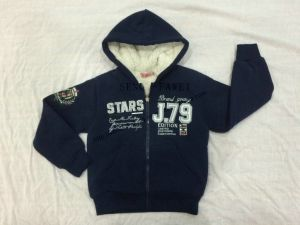 Boy Children Sport Zip-up Warm Hoodies Clothes Sq-6707