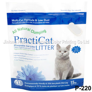Zipper Cat Litter Packaging Bag with Handle pictures & photos