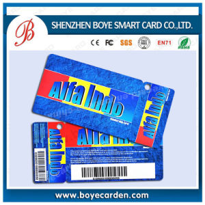 ISO14443A 13.56MHz Access Control RFID Barcode Plastic Key Card pictures & photos