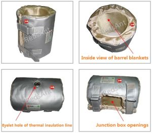 Fireproof Material Thermal Insulation Jacket for Extrusion Barrel Heater pictures & photos