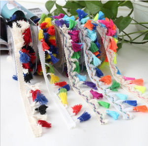 Hot Sale Factory Wholesale Finger Lace, Lace with Colorful Tassels pictures & photos