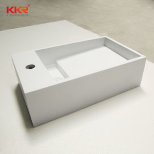 Corian Wall Mounted Solid Surface Washbasin for Bathroom pictures & photos