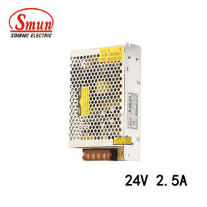 Smun S-60-24 60W 24VDC 2.5A Single Output Switching Power Supply pictures & photos