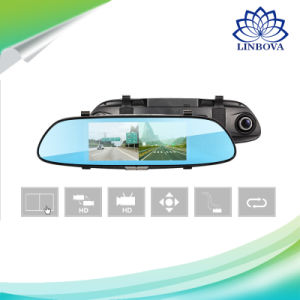 "7"" 3G Car Camera DVR GPS Bluetooth Dual Lens Rearview Mirror Android 5.0 Video Recorder Full HD 1080P Auto Dash Cam pictures & photos"