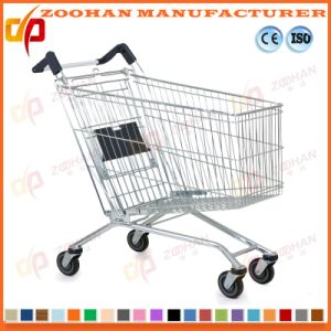 Top Quality European Style Zinc Supermarket Shopping Cart Trolley (Zht133) pictures & photos