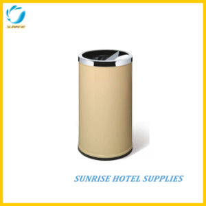 Hotel Lobby Ground Ash Barrel with Beige Color pictures & photos