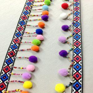 100% Poly Decorative POM POM Lace Trim pictures & photos