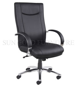 High Back Swivel Black Chair Manager Office Leather Chair (SZ-OC120) pictures & photos