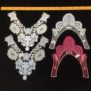 Cotton Vintage Blouse Collar Lace Soft Floral Neckline Lace Fabric for Female Dress pictures & photos